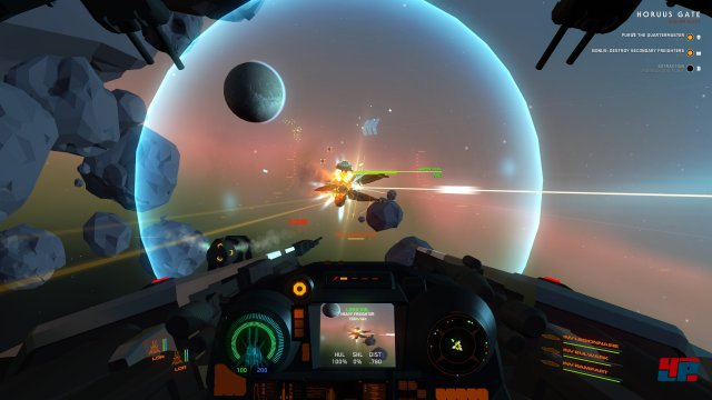 Vor allem akustisch erinnern die eleganten Raumschlachten an Battlestar: Galactica.