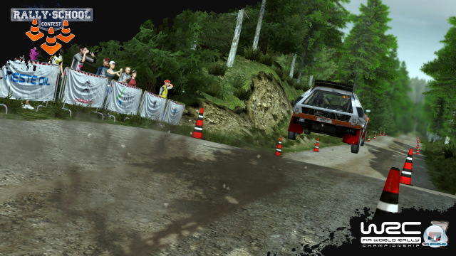 Spektakul�re Spr�nge geh�ren beim Rallye-Sport einfach dazu.