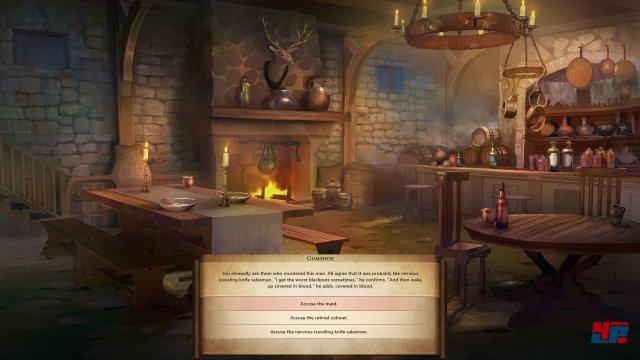 In Tavernen kann man kleine Quests inklusive Multiple-Choice und moralischer Tendenz meistern.