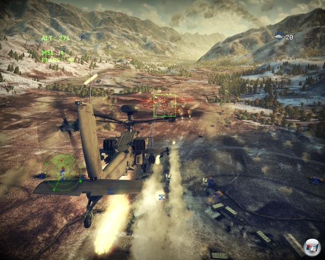 Schöne Landschaften, grandiose Helikoptermodelle - optisch folgt Apache Air Assault trotz der gelegentlichen Ruckler den Fußspuren von Birds of Prey.