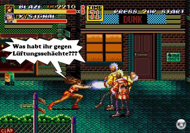 <b>Streets of Rage:</b><br><br>Von Axel, Blaze und Co. hat man seit Mega Drive-Zeiten nichts mehr gehört, was die Optimalvoraussetzung für eine mistige Wiedergeburt ist. Hier muss Sega nicht mal kreativ sein: Drittklassiges Entwicklerteam ran, 3D-Grafik rein, irgendwas mit Titten aufs Cover. Idealerweise hat das Endergebnis nicht mal was mit Prügeln zu tun, vielleicht kann man die Protagonistin durch Büros und Lüftungsschächte schleichen lassen? 1869293