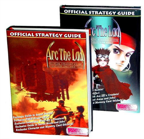 Die offiziellen Lösungsbücher sind nicht inklusive: Ihr müsst sie direkt bei Working Designs bestellen: Auszüge sind aber in jedem Spiel-Handbuch.