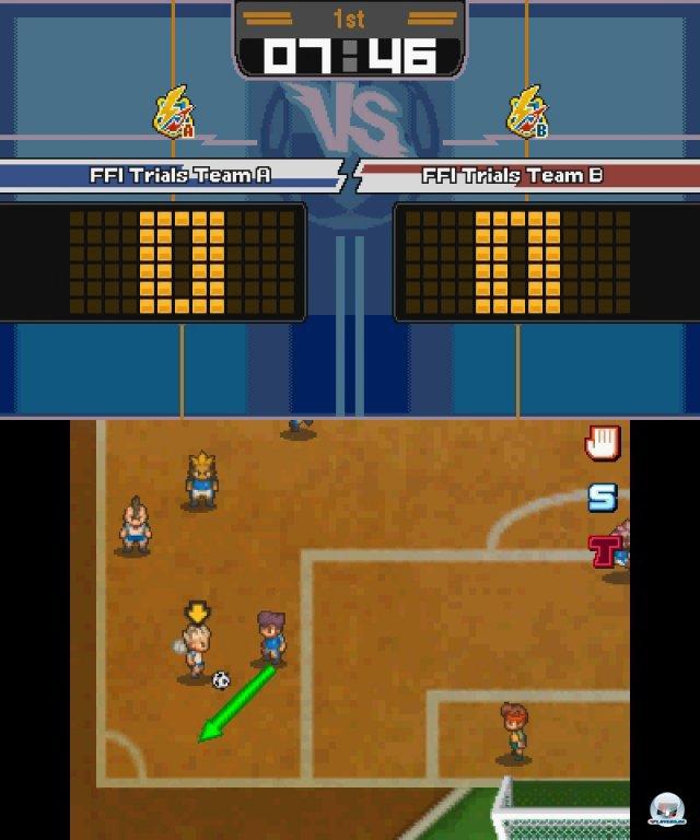 """Die bekannte Mischung aus Rollenspiel und Fu�ball-Manager wird auch bei Inazuma Eleven 3 beibehalten. Die beiden Editionen hei�en """"Kettenblitz"""" und """"Explosion""""."""