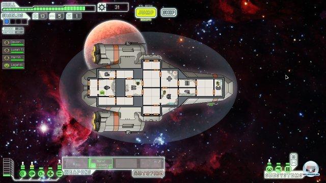 Man startet bescheidend mit seinem Raumschiff, ums All zu erkunden. Es winken Ruhm und Ehre.