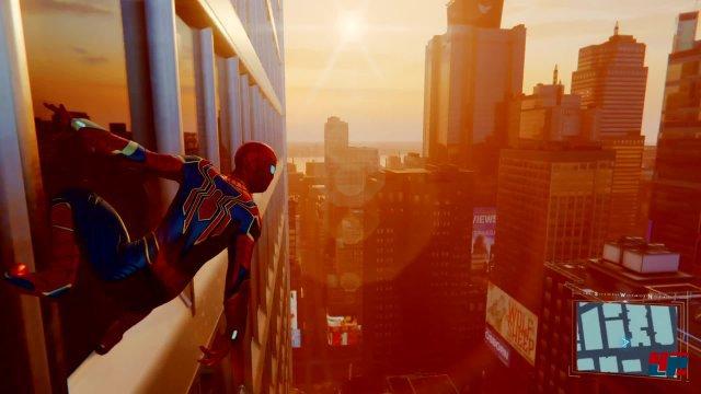 Im angenehm großen, aber nicht überfrachteten New York City kann man mit Spider-Man immer wieder stimmungsvolle Panoramen erleben.