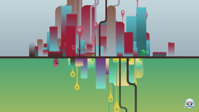 Das Design der Spielwelt mag minimalistisch sein, trotzdem wirkt es im Zusammenspiel mit dem atmosphärischen Soundtrack charmant.