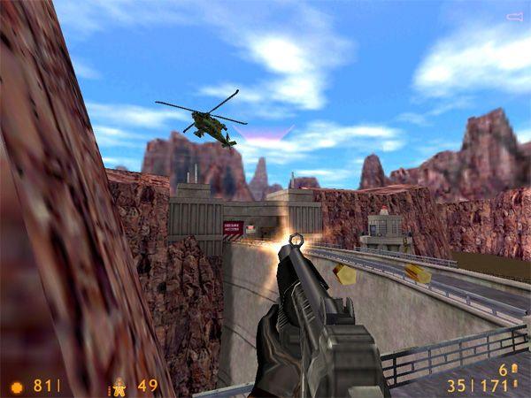 Half-Life<br><br>1998 war die Geburtsstunde von Gordon Freeman, dem schweigsamen, aber sehr wehrhaften Doktor der Physik, der in der Black Mesa-Forschungsanstalt eine außerirdische Invasion abzuwehren versucht. Valves Shooter wurde durch zwei Dinge zum Meilenstein: Erstens gab es eine coole Story zum Mitbibbern und zweitens eine in sich geschlossene Welt ohne krasse Sprünge - es gab keine Levels im eigentlichen Sinne, sondern sinnvoll ineinander übergehende Abschnitte, die zusammen mit den vielen geskripteten Szenen das Gefühl einer realistischen Umgebung vermittelten. Von der aufregenden Action, den intelligenten Gegnern, den vielen cleveren Puzzles und den ersten Auftritten des mysteriösen G-Man mal ganz abgesehen. 1718119