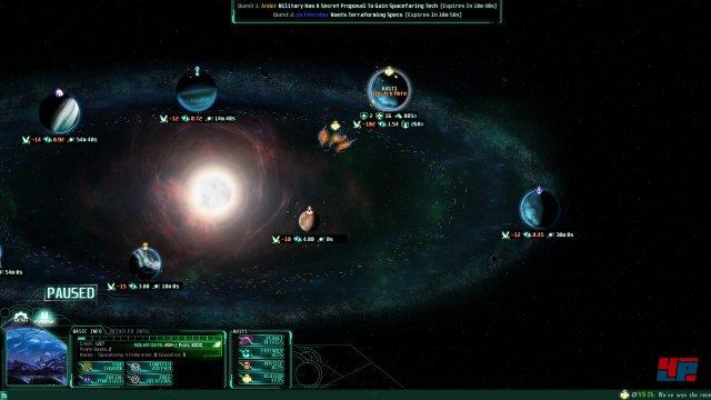 Große Politik: Auf der Galaxiskarte werden Allianzen geschmiedet und Kriege geplant.