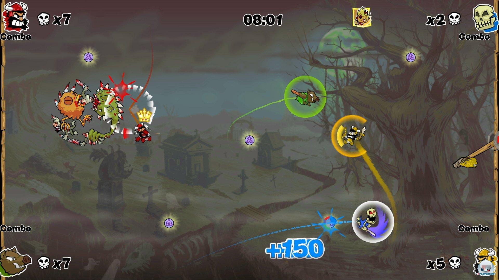 Der Mehrspielermodus beschränkt sich leider auf lokale Duelle gegen Freunde und KI-Gegner.