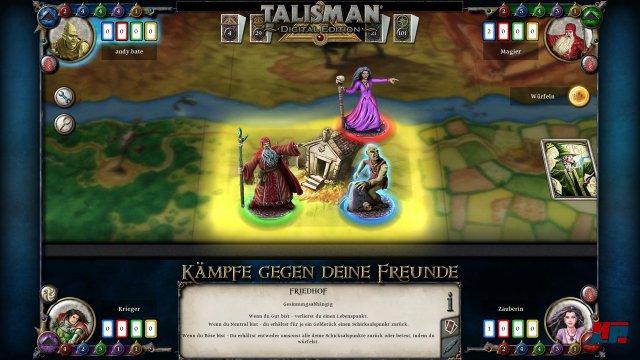 Man würfelt und bewegt seinen Helden auf der Karte des Klassikers. Das Spiel wurde lediglich dezent um Zoom- und Zaubereffekte modernisiert.