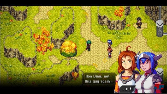 Auch in der simulierten Online-Welt von CrossCode gibt es Spieler, die einem auf die Nerven gehen.