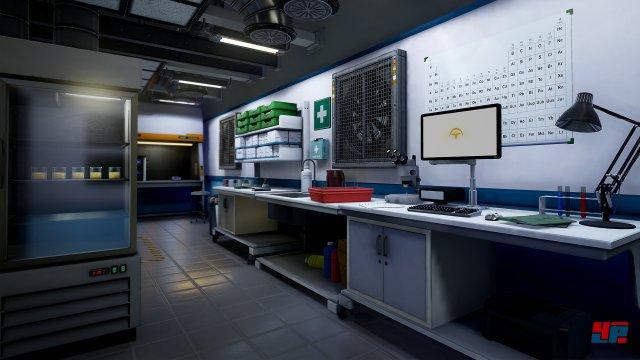 Auch für empfindliche Spieler geeignet: Die Navigation durch die Labore gestaltet sich sehr magenfreundlich.