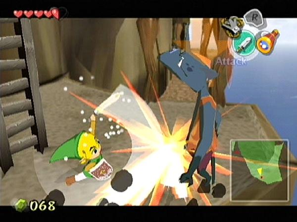 The Legend of Zelda: The Wind Waker<br><br>2002 geschah etwas Unerwartetes: Ein neues Zelda wurde für eine neue Konsole veröffentlicht - und die Spieler waren skeptisch! Denn Producer Shigeru Miyamoto und Director Eiji Aonuma entschlossen sich in Sachen Grafik zu einem ungewöhnlichen Schritt: Cel Shading-Comic-Look! Und auch heute noch ist der Kulleraugen-Blondschopf ein sagenwirmal kurioser Anblick - doch immerhin ändert das außergewöhnliche Äußere nichts an den Qualitäten des Spiels. Ganz im Gegenteil, The Wind Waker steckt voller großartiger Traditionen und wagemutiger Neuerungen, voll spannender Quests und einer fabelhaften Story - all das und mehr war selbst dem kritischen 4Players-Auge satte 91% wert! 1722623