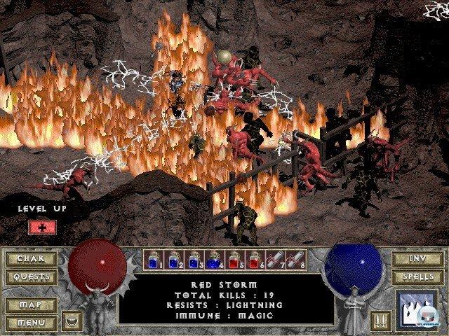 Haufenweise Gegner, noch mehr Beute und zufallsgenerierte Abschnitte: So hat man Diablo lieben gelernt.
