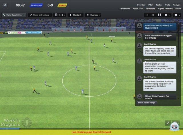 Die Matchdarstellung mag spr�de und oberfl�chlich wirken, doch Lauf- und Ballwege sowie Umsetzung der Taktikvorgaben sind unerreicht.