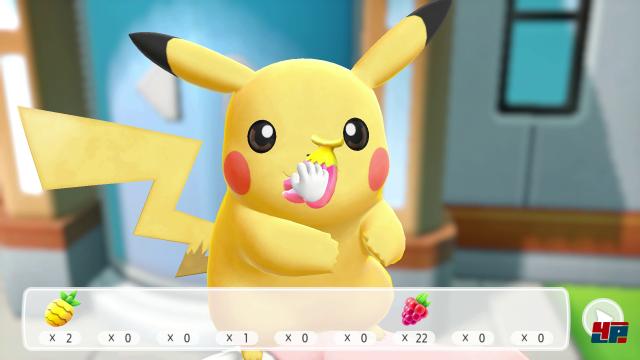 Pikachu oder Evoli mit Streicheleinheiten oder Beeren zu verwöhnen ist nicht nur zuckersüß, es stärkt auch die Beziehung im Kampf!