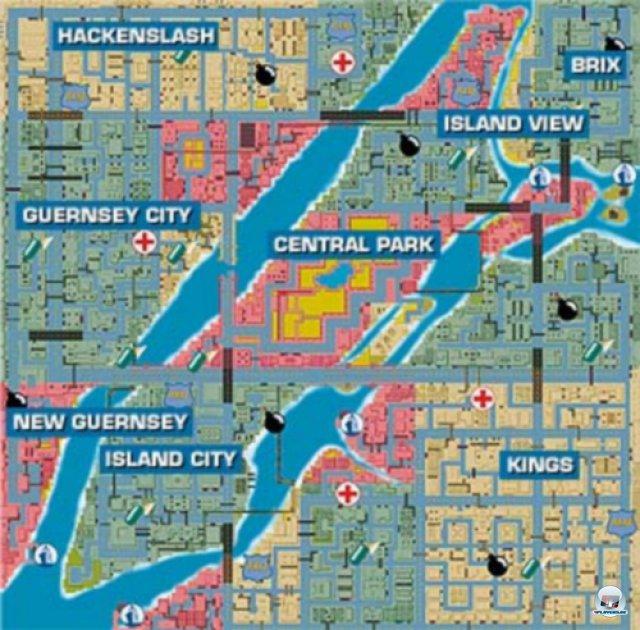 Das Liberty City von 1997 unterscheidet sich deutlich von den Versionen, die man 2001 (GTA 3) oder 2008 (GTA 4) als Schauplatz genießen durfte.