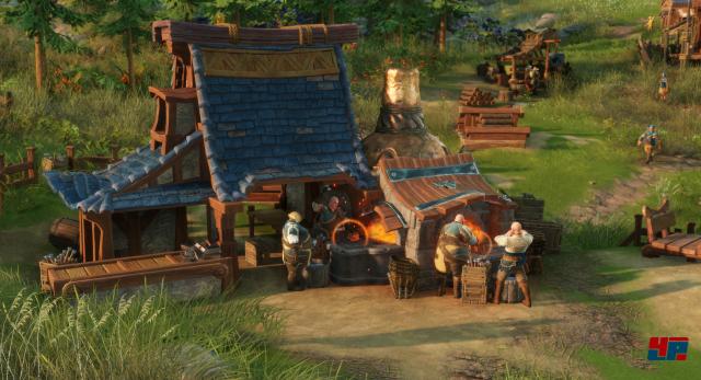 Das Zuschauen soll wieder Spaß machen. In Die Siedler kann man jeden Produktionsweg im Detail verfolgen.