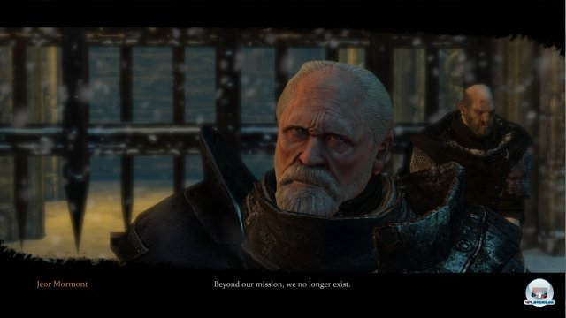 Obwohl man inhaltlich den Bücherb treu bleibt, richtet man sich optisch an die TV-Serie: Hier Jeor Mormont, der Lord Commander der Nachtwache.
