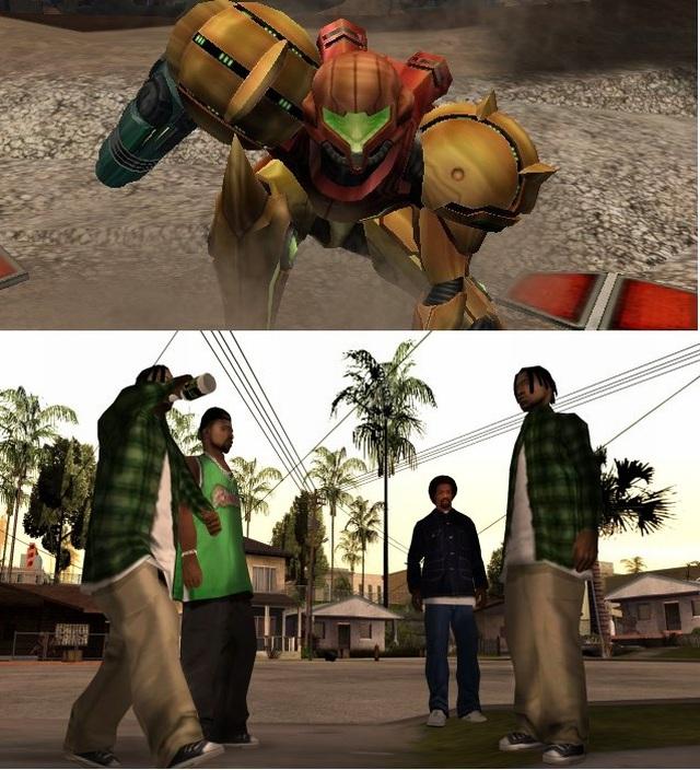 Jahr 2004: <br><br> Genau wie Shenmue schaffte auch Metroid Prime mit seiner Fortsetzung Echoes das Double: Mit einer Traumwertung von 94% konnte sich das Action-Adventure für den GameCube sogar noch minimal steigern! Allerdings darf Samus den Thron schon wieder nicht alleine besteigen, denn auch die Homies aus GTA: San Andreas ballerten und rasten bis zur Spitze. Dahinter sortierte sich Half Life 2 mit einer Wertung von 93% ein, während die Kicker aus PES 4 immerhin der 92% entgegen dribbelten. 2182933