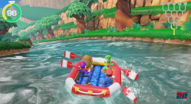 Das Rafting-Abenteuer bietet Abwechslung und alle Spieler sind durchgehend beschäftigt.