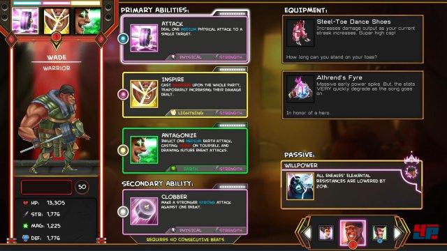 Mit Fähigkeiten und Ausrüstung nutzt The Metronomicon bekannte Rollenspiel-Versatzstücke.