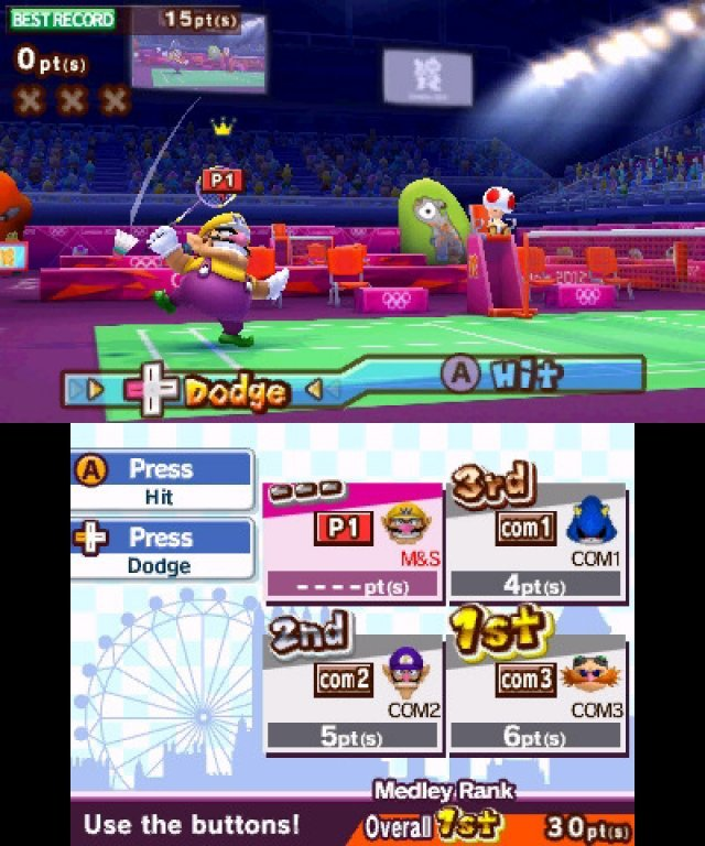 Screenshot - Mario &amp; Sonic bei den Olympischen Spielen: London 2012 (3DS)