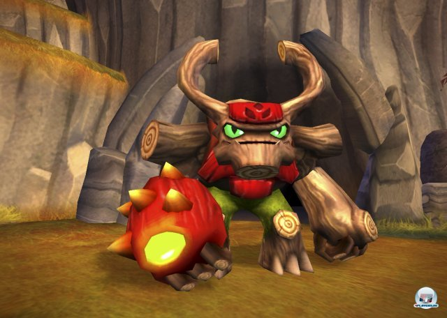 Einer der Giganten in der Skylanders-Welt: Tree Rex.