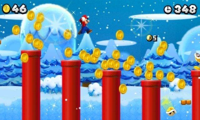 Gold, Gold, Gold, Gold, Gold: Mario hat scheinbar nichts anderes mehr im Sinn. Es gilt jetzt, eine Million der �berall befindlichen M�nzen zu sammeln.
