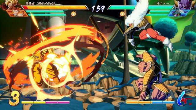 Arc System inszeniert die Team-Gefechte als wuchtige Effekt-Gewitter.