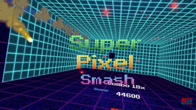 Im Super Pixel Smash kann man die Punktzahl nach oben treiben.