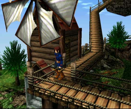 "Vyse, der Held von ""Skies of Arcadia"""