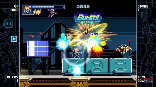 Screenshot - Mighty Gunvolt Burst (3DS)
