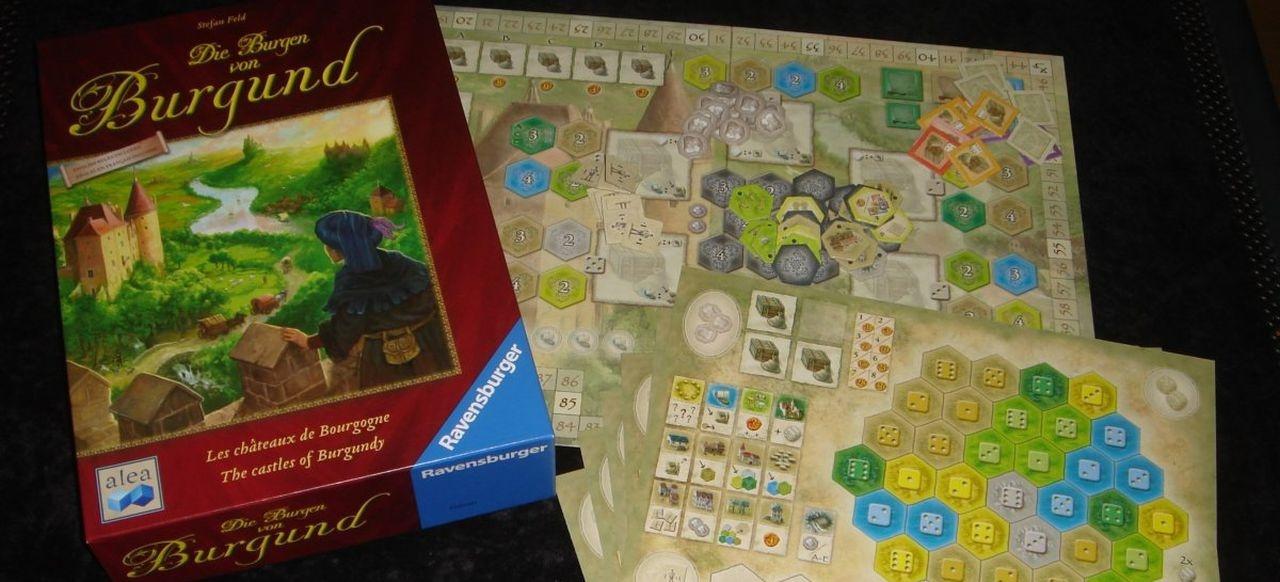 Die Burgen von Burgund (Brettspiel) von Ravensburger, Heildelberger Spielverlag