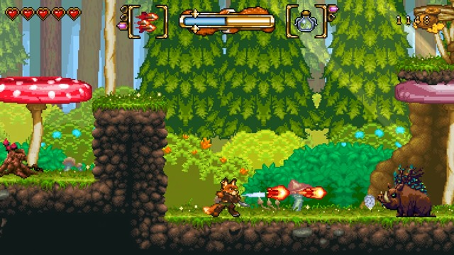 Spielszenen: Fungus Forest (Level 2-1)