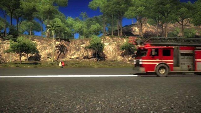 Fire Truck vs. Jet Stunt
