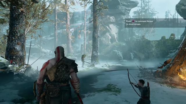 Fighting with Atreus