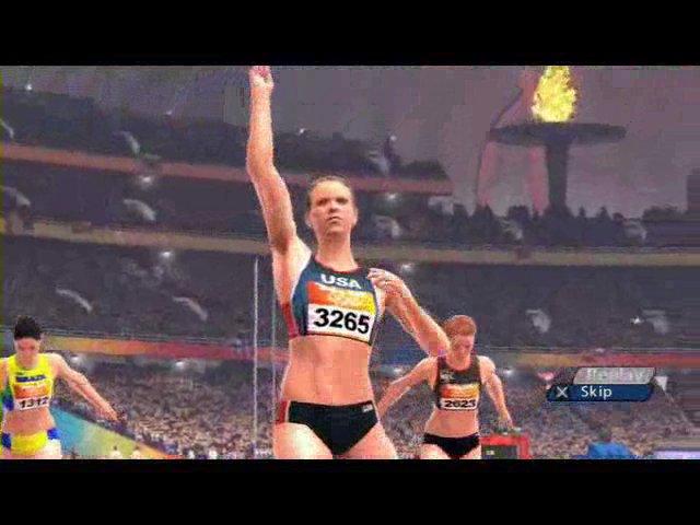 Spielszenen 100m-Sprint