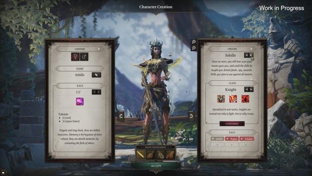 Kickstarter Update 25: Character Creation