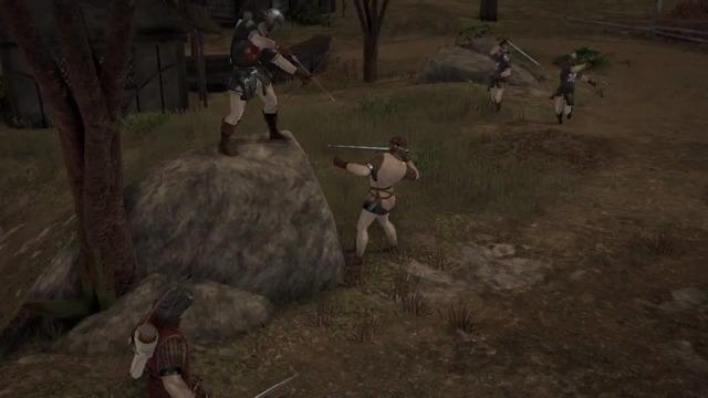 Bogenschützen-Spielszenen